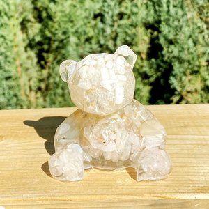 Mixed gemstone and resin teddy  bear